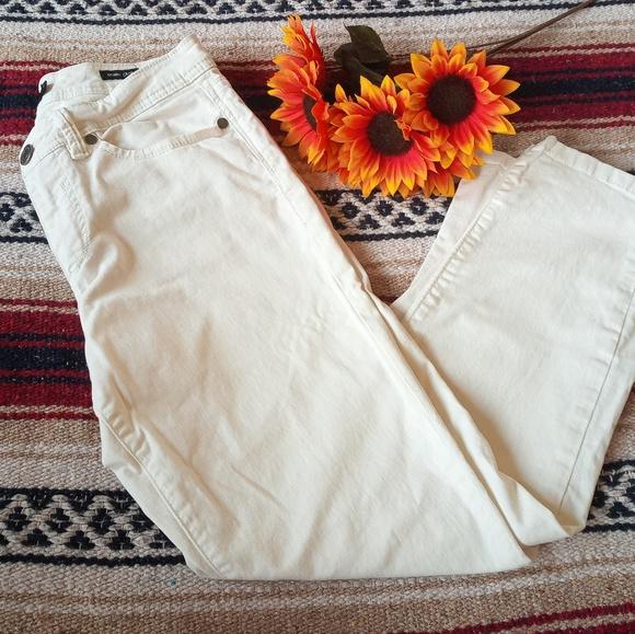 Calvin Klein Denim - Calvin Klein Skinny Crop White Jeans